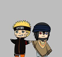 Naruto and Sasuke- Naruto the Last chibi by rainbowcho