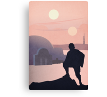 Star Wars Two Suns Canvas Print