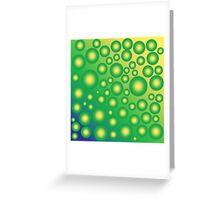 Fresh tropical bubbles Greeting Card