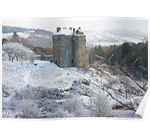 Neidpath Castle Near Peebles Scotland Poster