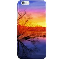 Tranquil Tree Reflection Sunset iPhone Case/Skin