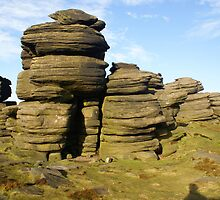 Rock Stack in the Peak District by Duncan Payne