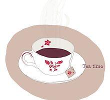 Fruity Tea Time by elsillustration