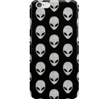 Grey Glitter Aliens iPhone Case/Skin