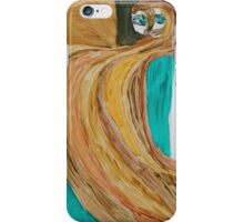Creepy Woman Portrait, Abstract Acrylic painting  iPhone Case/Skin