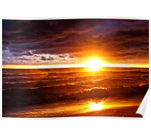 Bright Stormy Sunset Poster