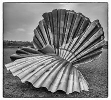 The Scallop, Aldeburgh from the other side 2 by Mark Bangert