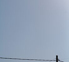 telephone wire and sky by nickaldridge