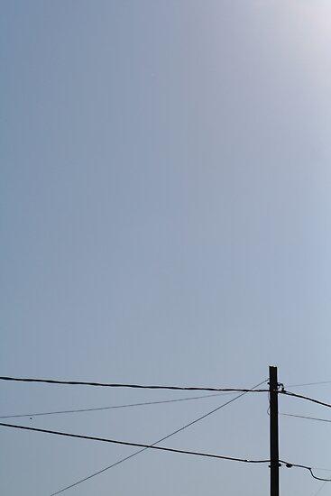 telephone wire and sky by nickaldridge