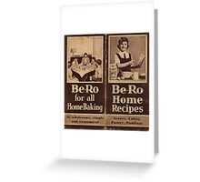 "Be-Ro Home Recipes ""cook book"" Greeting Card"