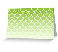 Ombre Fish Scale In Lime Greeting Card