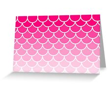 Ombre Fish Scale In Strawberry Greeting Card
