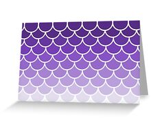 Ombre Fish Scale In Grape Greeting Card