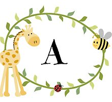 Nursery Letters A by mezzilicious