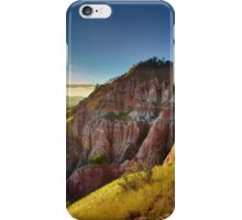 Sunset in the mountains, Red Ravine iPhone Case/Skin