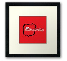 M25 nevermoving Framed Print