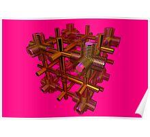 Cubenoid spring Poster