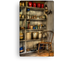 The chair in the corner of the kitchen Canvas Print