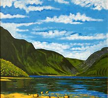 Lake at Glendalough, County Wicklow, Irish Republic by Samuel Ruth
