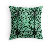 Black Spider Silhouette Pattern Throw Pillow