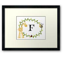 Nursery Letters F Framed Print