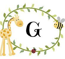 Nursery Letters G by mezzilicious