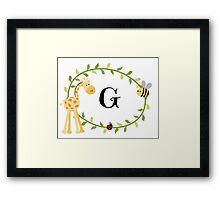 Nursery Letters G Framed Print