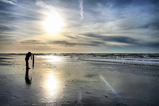 Alone at the Beach by Jo Nijenhuis