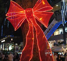 A Lighted Ribbon at Orchard Road, Singapore by MightyMike