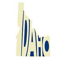 Idaho State Word Art by surgedesigns