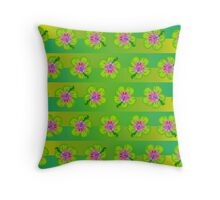 Hibiscus pattern Throw Pillow