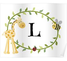 Nursery Letters L Poster