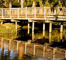 Sunrise Footbridge by phil decocco
