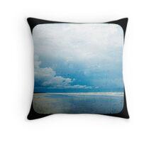 Beach Blue Throw Pillow