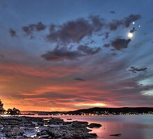 Smiley Face Conjunction over Brisbane Water by Mike Salway