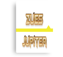 Zeus & Jupiter Canvas Print
