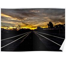 Sunrise by the Railroad Poster