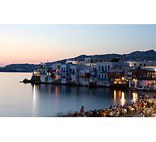 Little Venice, Mykonos Greece Photographic Print