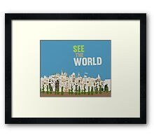 see the world, it's a small world, disneyland Framed Print