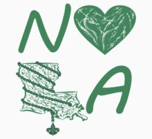 I heart NOLA (Green) Kids Clothes
