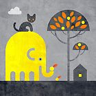 Elephant and Cat by Scott Partridge