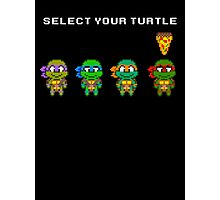 Select Your Turtle (Raphael) - TMNT Pixel Art Photographic Print