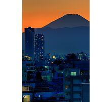 Mount Fuji at sunset; Omori, Shinagawa-ku, Tokyo Photographic Print