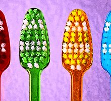Bright Toothbrushes by Renee Hubbard Fine Art Photography