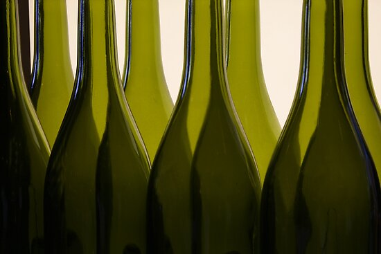 Wine Bottles by Barbara  Brown