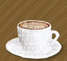 For the love of Coffee Word Art Typography by SkahfeeStudios