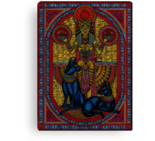bastet, bast the cat goddess Canvas Print