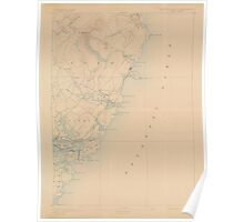 Maine USGS Historical Map York 306858 1893 62500 Poster