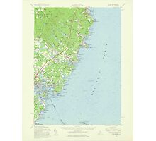 Maine USGS Historical Map York 306859 1956 62500 Photographic Print
