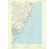 Maine USGS Historical Map York 306860 1956 62500 Photographic Print